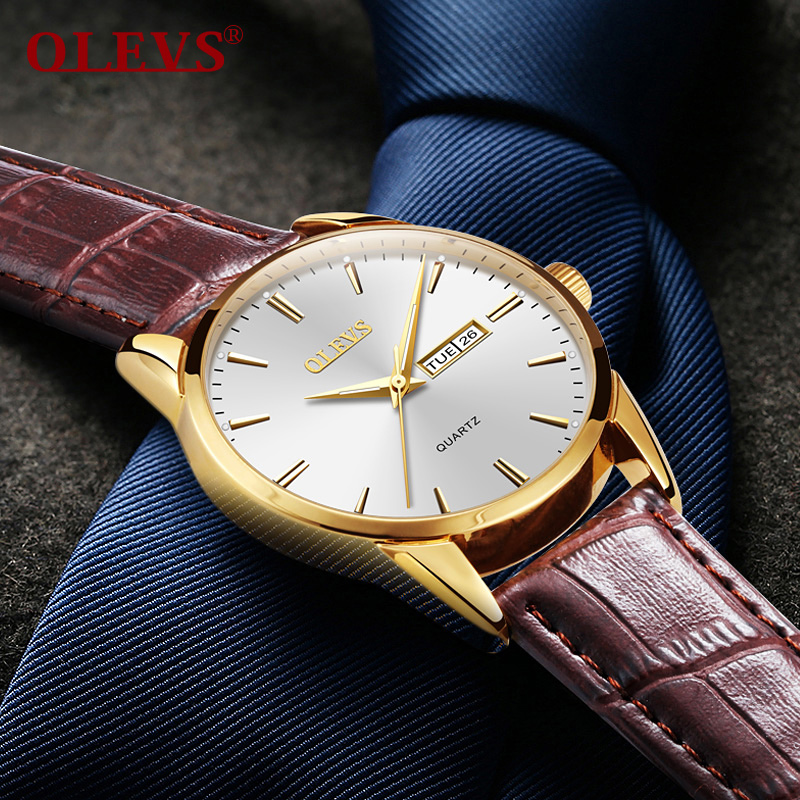 OLEVS Mens watches top brand luxury Simple day date Wrist watches waterproof clock relogio masculino Luminous Hands quartz watch joie et beaute© повседневные брюки