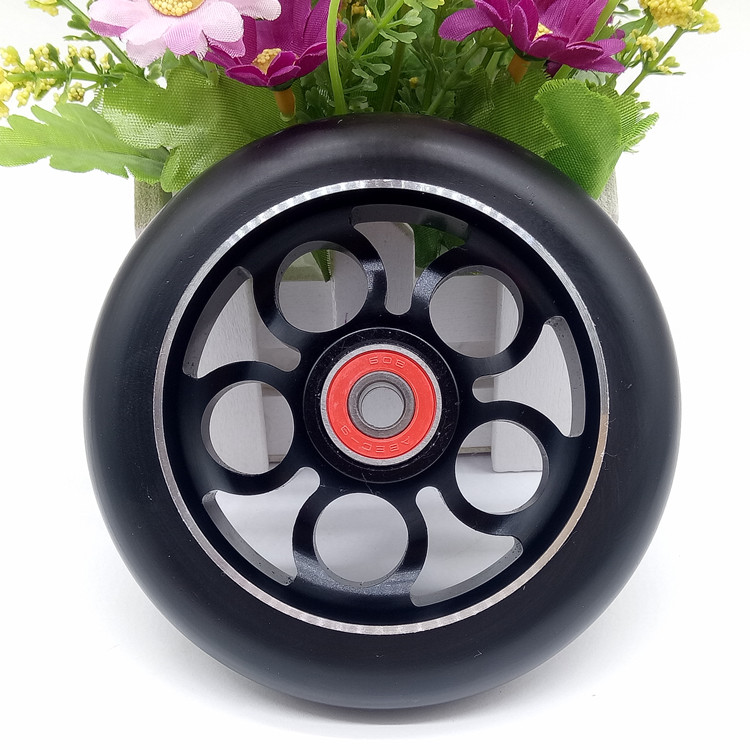 1PCS 100/110mm Stunt Scooter Wheels With High Elastic Wear-resisting PU Aluminum Alloy Hub 608 ABEC-9 Bearings 88A Skate Wheels