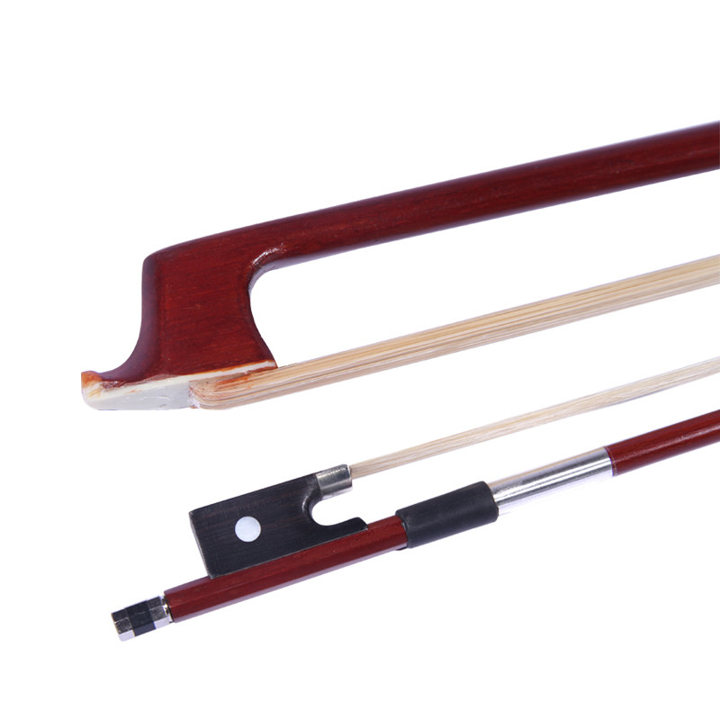 TONGLING Exquisite 4/4  3/4 1/2 1/4 1/8  Violin Bow Brazil Wood Ebony Frog Fiddle Bow Arbor Horsehair Violino Parts Accessories