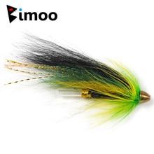 Bimoo 10 pçs 5 cor tubo de conehead moscas para salmão truta e steelhead mosca isca de pesca