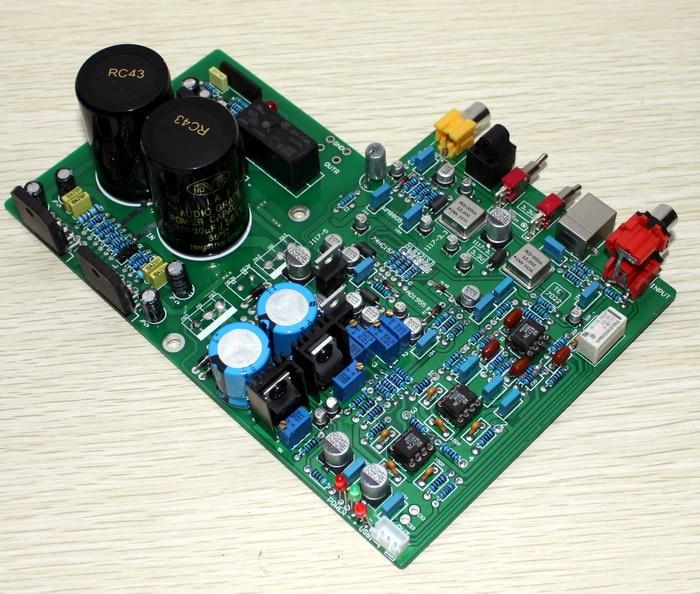 AD1955+WM8805+PCM2706+AD827 LM3886TF DAC 1955 Decoder + LM3886 Amplifier Board (Fiber Coaxial USB Decoding)