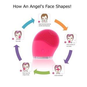 Image 2 - Cepillo eléctrico de limpieza Facial, Mini lavadora impermeable de silicona para el cuidado de la piel, herramienta para SPA
