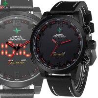 ผู้ชายนาฬิกาดิจิตอล2017แบรนด์หรูผู้ชายนาฬิกาสปอร์ตกันน้ำมัลติฟังก์ชั่ควอตซ์LEDนาฬิกาข้อมือ...