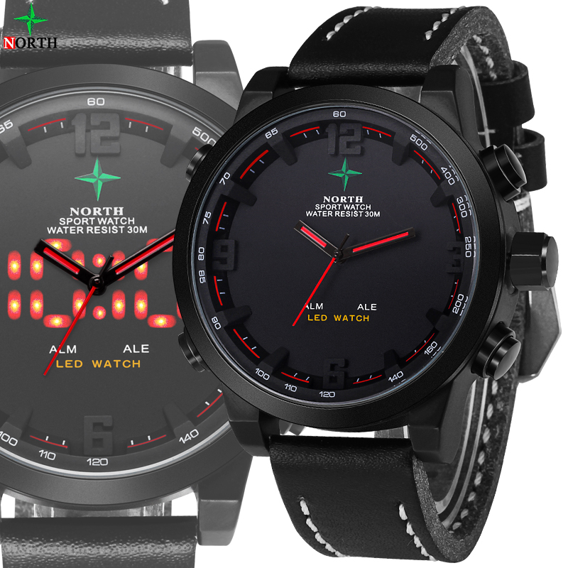 Männer Uhr Digitale 2017 Luxusmarke Männer Sportuhr Wasserdichte Multifunktions LED Armbanduhr Jungen Militäruhr Männer Sport