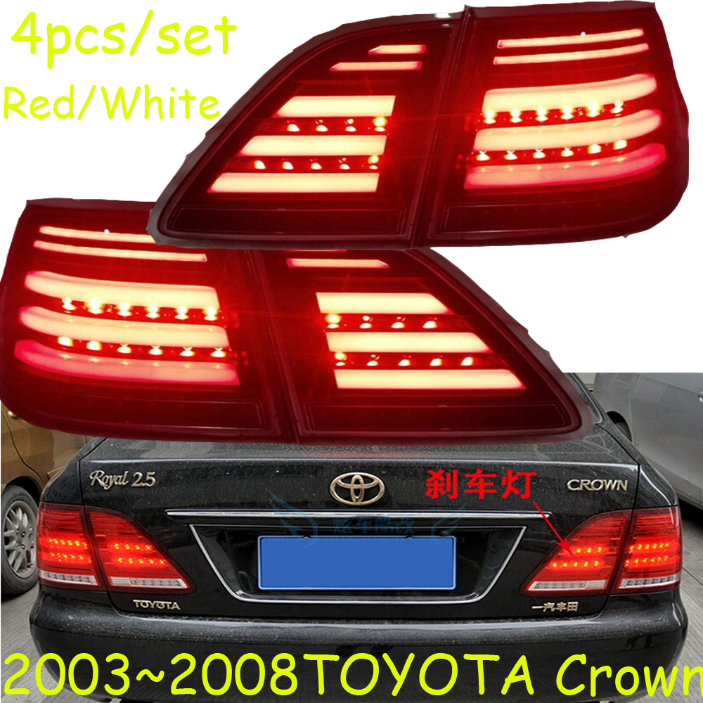Crown taillight,2003~2008;Free ship!LED,Crown rear light,Red/Black color optional,4ps/set,Crown fog light;Carmy,prado,Crown