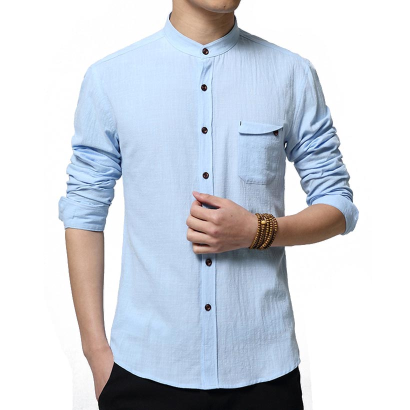 Compare Prices on Cotton Collarless Shirt- Online Shopping/Buy Low ...