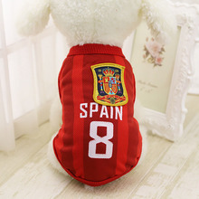 8c5afe14f Sports Dog Vest Cat Shirt Pet Clothing Summer Cotton Sweatshirt Football  Jersey Dog Clothes For Small Medium Large Dogs XS-6XL