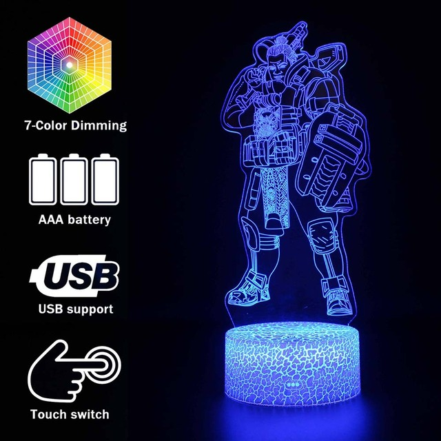 Luminous toys 3D illusion Led Lamp Apex Legends Action Figure Night Light Protector For Kids Present APEX toys For Gamers