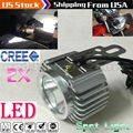 2x Super Bright Metal Chrome Motorcycle LED Light Headlight Driving Spotlight Fog Spot Work Headlamp Night Safety Lamp