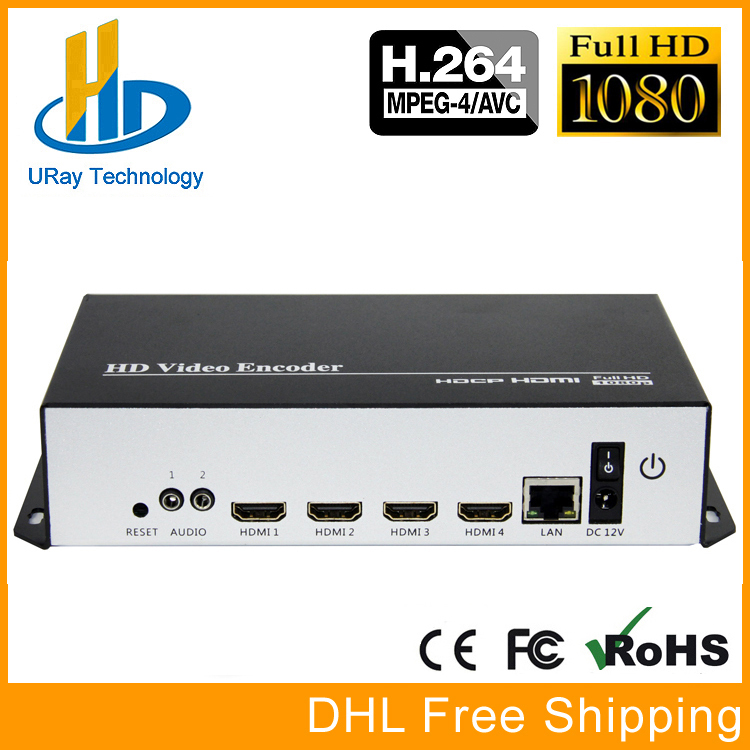 URay 4 In 1 HDMI + MIC To IP Live Streaming Video Audio Encoder H.264 RTMP Encoder HDMI Encoder IPTV H264 With HLS HTTP RTSP UDP uray 3g 4g lte hd 3g sdi to ip streaming encoder h 265 h 264 rtmp rtsp udp hls 1080p encoder h265 h264 support fdd tdd for live
