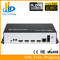 URay 4 In 1 HDMI + MIC To IP Live Streaming Video Audio Encoder H.264 RTMP Encoder HDMI Encoder IPTV H264 With HLS HTTP RTSP UDP