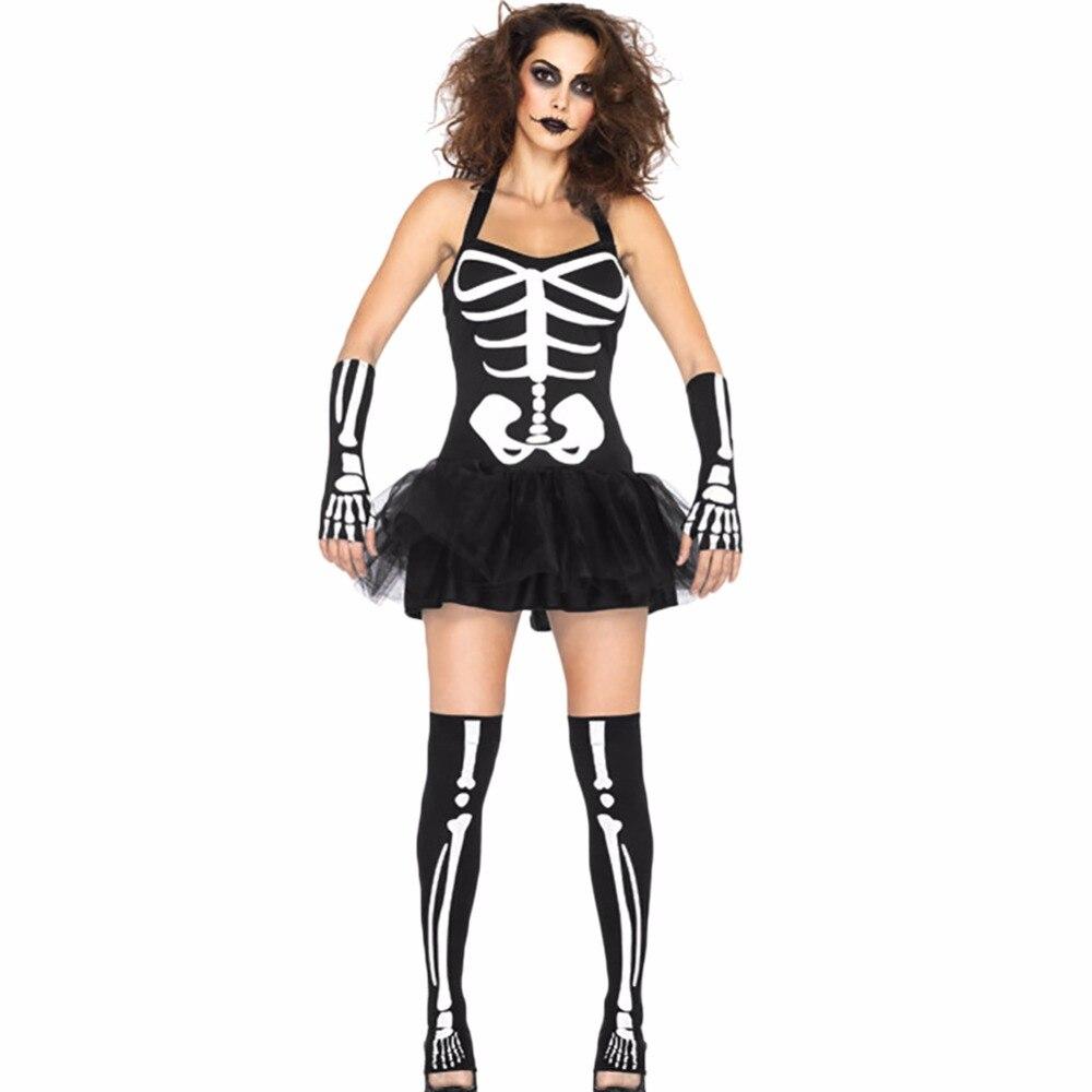lisli skeleton print gothic dress bone punk party short bodycon