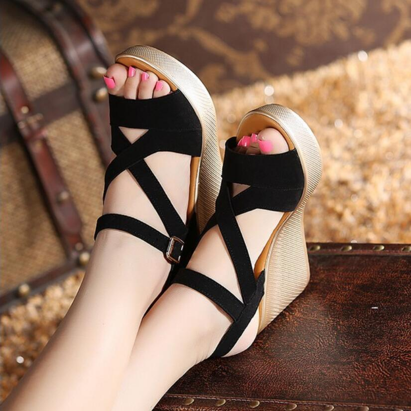 {D&Henlu} Female Shoes Ladies Sandals Women Heels Summer Woman Sandal Platform Open Toes Shoe Woman High Heel Women Shoes Summer цена