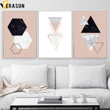 Abstract Geometry Marble Heart Minimalist Wall Art Canvas Painting Nordic Posters And Prints Pictures For Living Room Decor