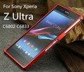 Bumper de alumínio, tx para Sony Z Ultra Metal Frame para Sony Xperia ZU Z Ultra C6802 C6833 capa fundas com chave de fenda