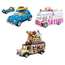 SLPF Children Toys Car Model Kit Boys And Girls Puzzle DIY Assembled Mini Small Particles Building Blocks Toy Gift Legoings E11