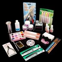 Professional Manicure Pedicure Nail Art Salon Tool Full Acrylic Liquid Powder Glue Kit Set Acrylic Nail