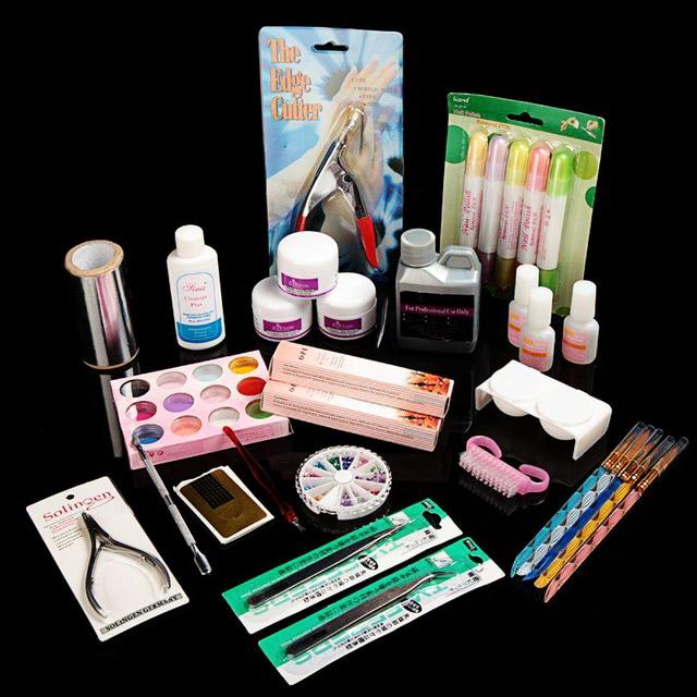 Nail Art Salon Tool Full Acrylic Liquid Powder Glue Kit Set acrylic nail kit Manicure Pedicure
