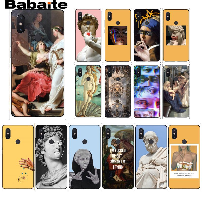 Babaite Art Yellow oil painting Camila Lips statue Phone Case for Xiaomi MiA1 A2 lite F1 Redmi 6A 4X 5Plus S2 Note7 Redmi Note4