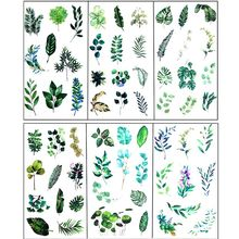 6Pcs Leaves Resin Sticker Epoxy Resin Mold Frame Fillers Material Jewelry Making
