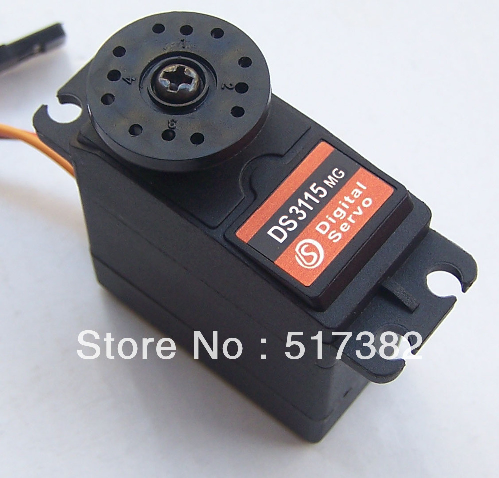 Freeship 5X Original factory High Quality DS3115 Metal gear Digital standard servo For rc car boat plane robot 1x free shipment original factory high torque servo 15kg ds3115 servo metal gear digital standard servo for rc car boat plane