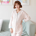 Maternal Confinement Maternity Clothing Nursing Pajamas Long-sleeved Cotton Dress Autumn And Winter Pajamas