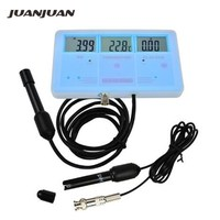 6 in 1 Multi parameter Water Quality Monitor Tester EC CF TDS PH degree C and F + Built in Rechargeable Battery 40%Off