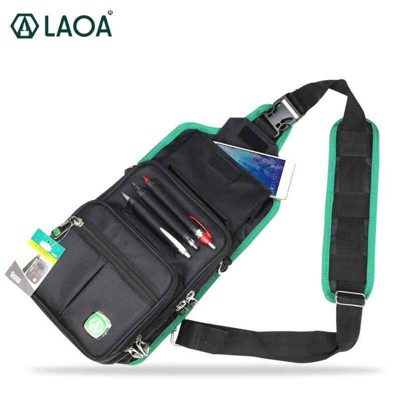LAOA sac de messager multifonction électrique paquet outil sac suspendu Oxford sac à outils en tissu résistant à l'usure