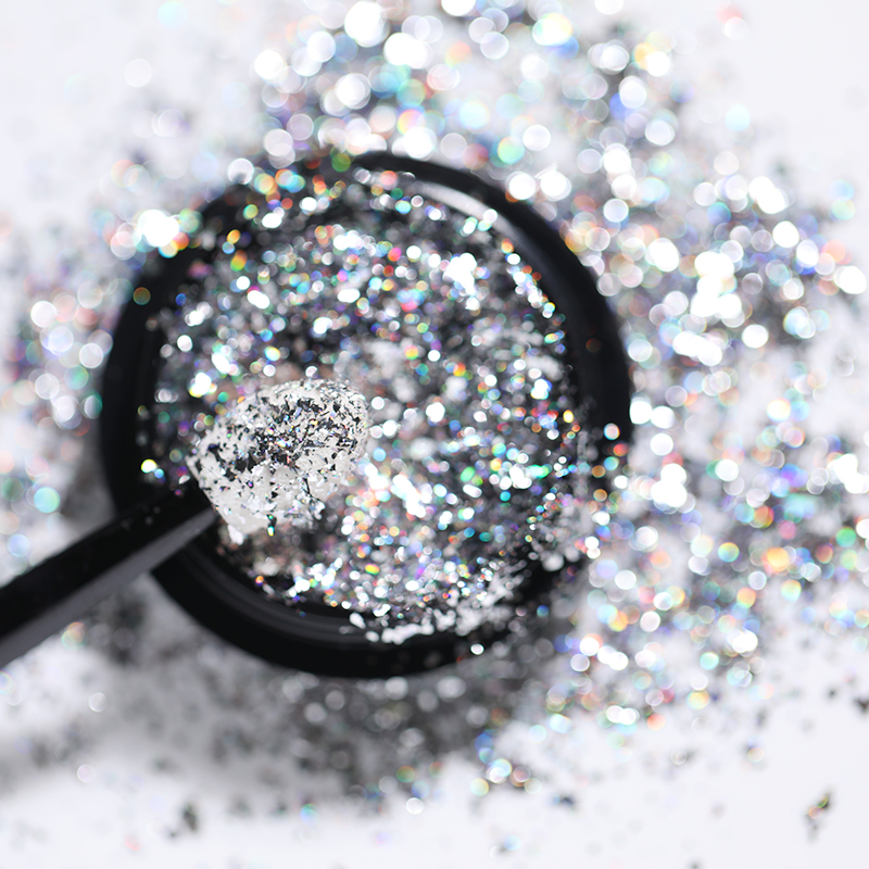 0 5g 1g Mirror Nail Glitter Chrome For Nail Decoration Laser Rainbow Nail Powder Colorful Nail Art Holographic Manicure in Nail Glitter from Beauty Health
