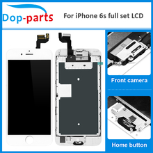 50Pcs Wholesale Full Set LCD Display For iPhone 6s LCD Touch Screen Home button+Front camera Digitizer Assembly Replacement цена в Москве и Питере