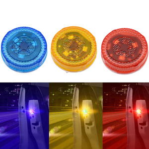 Image 2 - 1X Car Door Light Warning Light Anti Collision Lights Flash Light Red Wireless Alarm Lamp Strobe Light Turn Signal Parking Light