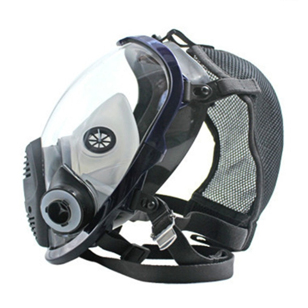 TSAI Lightweight Full Face Chemical mask Anti Gas Mask Acid Dust Respirator Paint Pesticide Spray Silicone Filter bike Face Mask