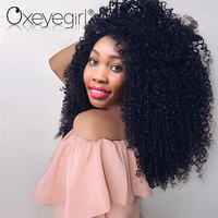 Oxeye Girl Brazilian Remy Hair 1Pc Kinky Curly Hair Bundles 10 28 Inch Natural Color 100