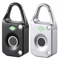 Small Alloy Fingerprint Padlock Smart Lock Backpack Suitcase File Cabinet Jewelry Box Lock