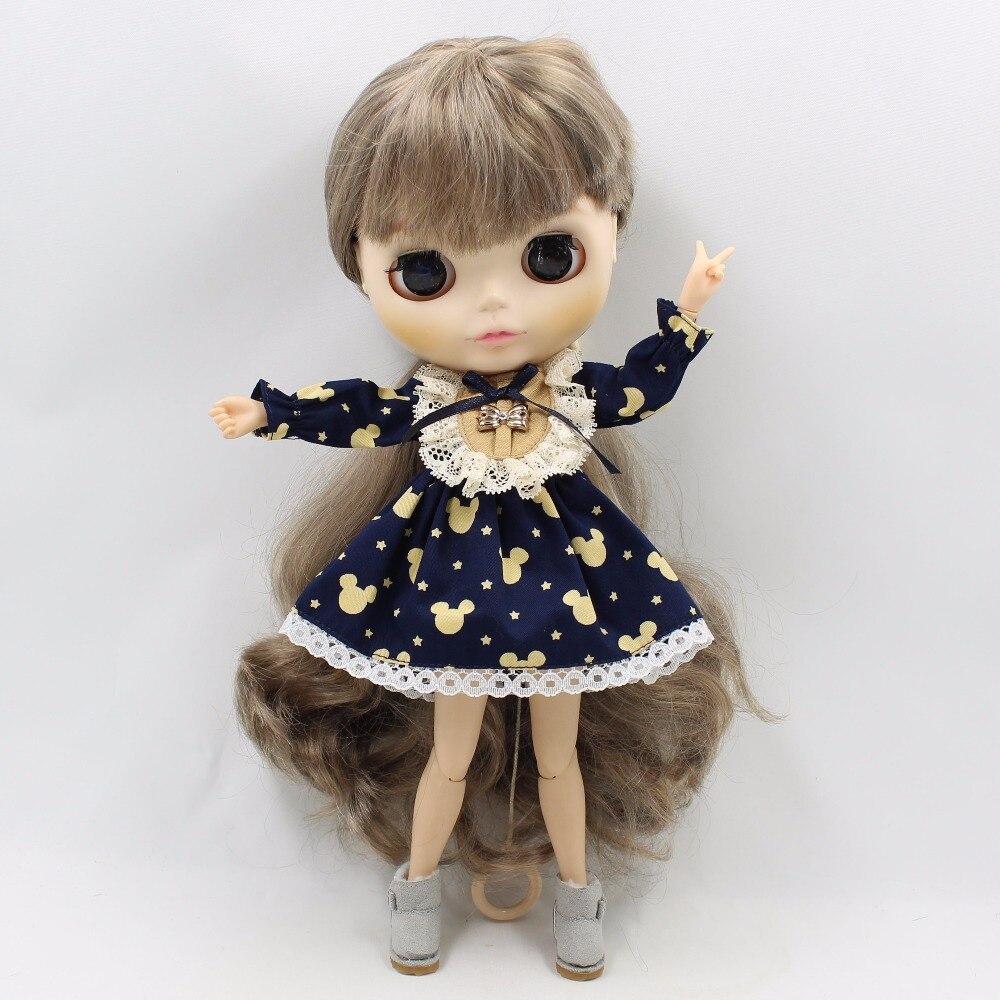 Neo Blythe Doll Vintage Lace Mickey Mouse Print Dress 5