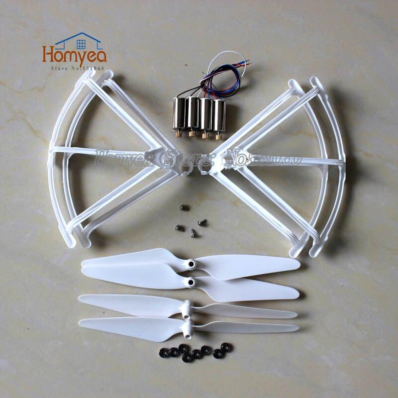 Hubsan X4 H502S H502E H502T H507A H216A RC Drone Spare Parts Upgrade Bearing Propeller Protect Guard Motors Blade Part Kit