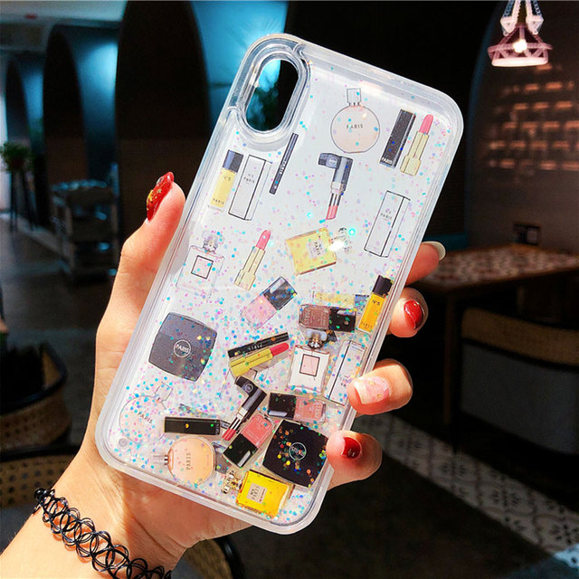 Luxury Makeups Perfume Quicksand Glitter Phone Case For iPhone 11 Pro MAX 6 6S 7 8 Plus case for iphone XS Max XR X XS cover 1