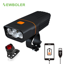 NEWBOLER 5200 mAh Bicycle Light Power Bank Bike Light Built