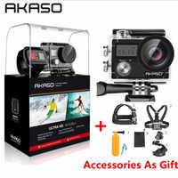 AKASO Brave 4 WIFI Ultra HD 4K Outdoor Action Camera HD Waterproof Camcorder Diving Underwater Bike Helmet Video Cam