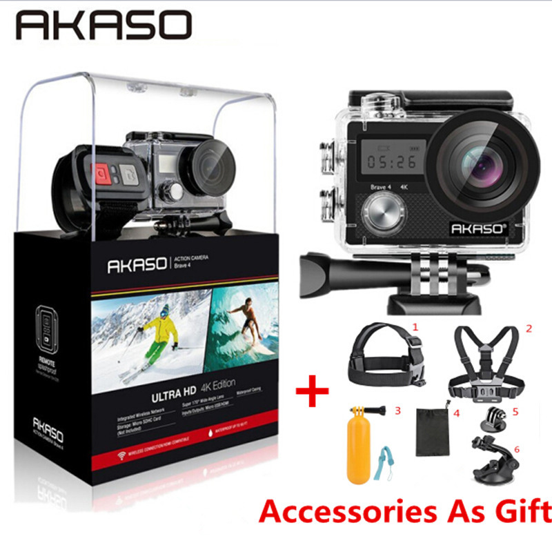 AKASO Brave 4 WIFI Ultra HD 4K Outdoor Action Camera HD Waterproof Camcorder Div