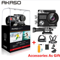 AKASO Brave 4 WIFI Ultra HD 4K Outdoor Action Camera HD Waterproof Camcorder Diving Underwater Bike Helmet Video Cam