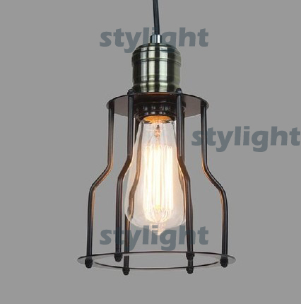 Pendant lamp LOFT edison chandelier lighting Vintage CAGE FILAMENT PENDANT industrial lighting Edison-style filament bulb black loft antique retro spider chandelier art black diy e27 vintage adjustable edison bulb pendant lamp haning fixture lighting