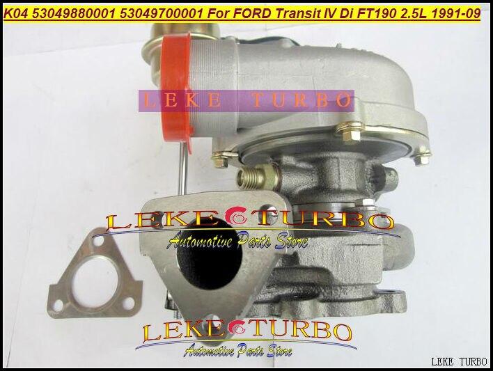 K04 01 53049880001 53049700001 5304-988-0001 Turbo Turbocharger For FORD Transit IV FT190 1991-09 100HP 4EA 4EB 4HC 4GB 4GC 2.5L