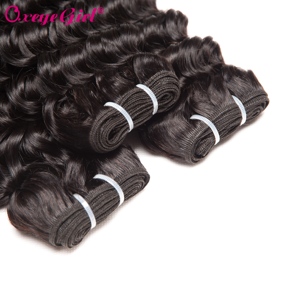 Oxeye fille Deep Wave Bundles Bundles de cheveux brésiliens Bundles - Cheveux humains (noir) - Photo 4