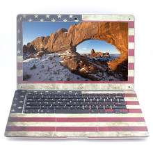 USA Flag 4GB Ram+500GB HDD Windows 10 System Ultrathin Quad Core Fast Boot Laptop Notebook Netbook Computer