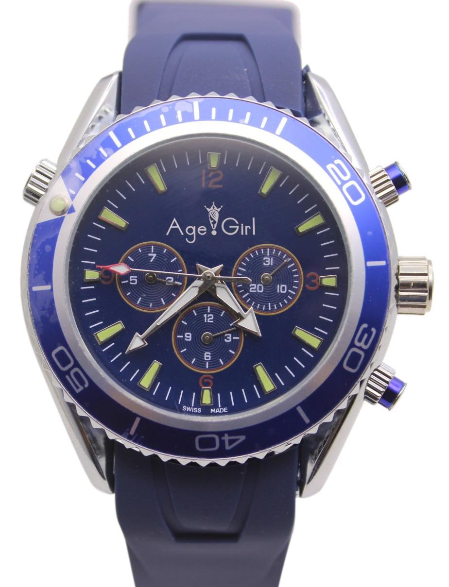 James Bond 007 Skyfall Automatic Mechanical Watch Blue Rubber Watches Sports Mens Wristwatch