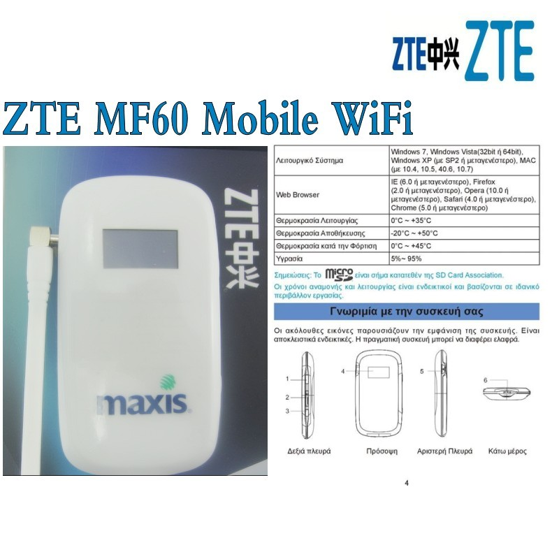 Lot of 10pcs <font><b>ZTE</b></font> <font><b>MF60</b></font> 3G UMTS HSPA+ 21Mbp plus 3g antenna image