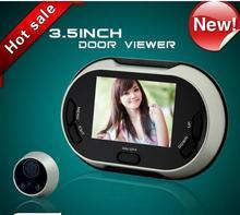 Freeship 3.5 pulgadas LCD peephole150 Grados Timbre Digital Mirilla Espectador de la puerta Espectador del Ojo de Puerta Del Timbre Del IR Cámara de La Puerta