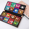 Patrón de Piedra de la manera de LA PU Mujeres de Cuero de 80 Colores de Sombra de Ojos Paleta Cosmética Shimmer Eye shadow Palette Make Up Kit 2017 de Primavera