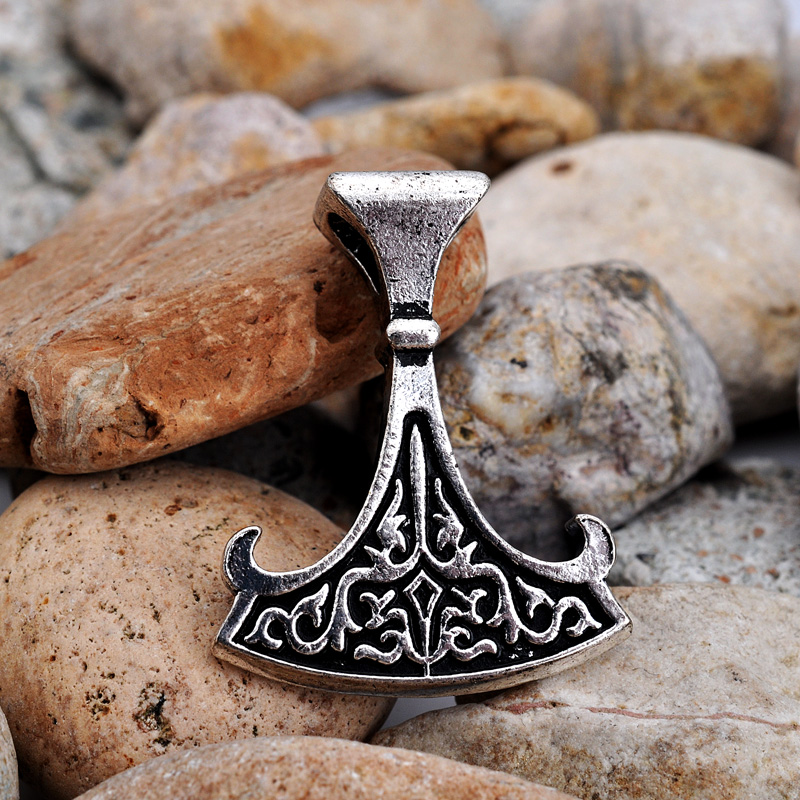 US $21 57 |10pcs Antique Silver Plated Slavic Huger Perun's Axe Charm  Amulet Jewelry Ancient Artifact Pendant-in Pendants from Jewelry &  Accessories